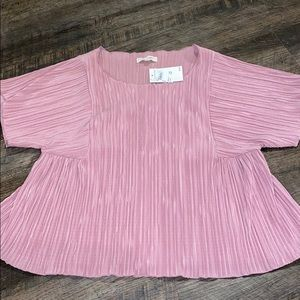 NWT Madewell pink babydoll top size M